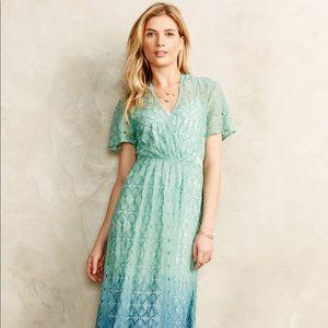 🍂 Goegeous Anthropologie Eyelet lace midi Dress 8